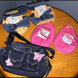 Build a Bear pocket book and two pair shoes